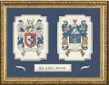 dual coat of arms framed